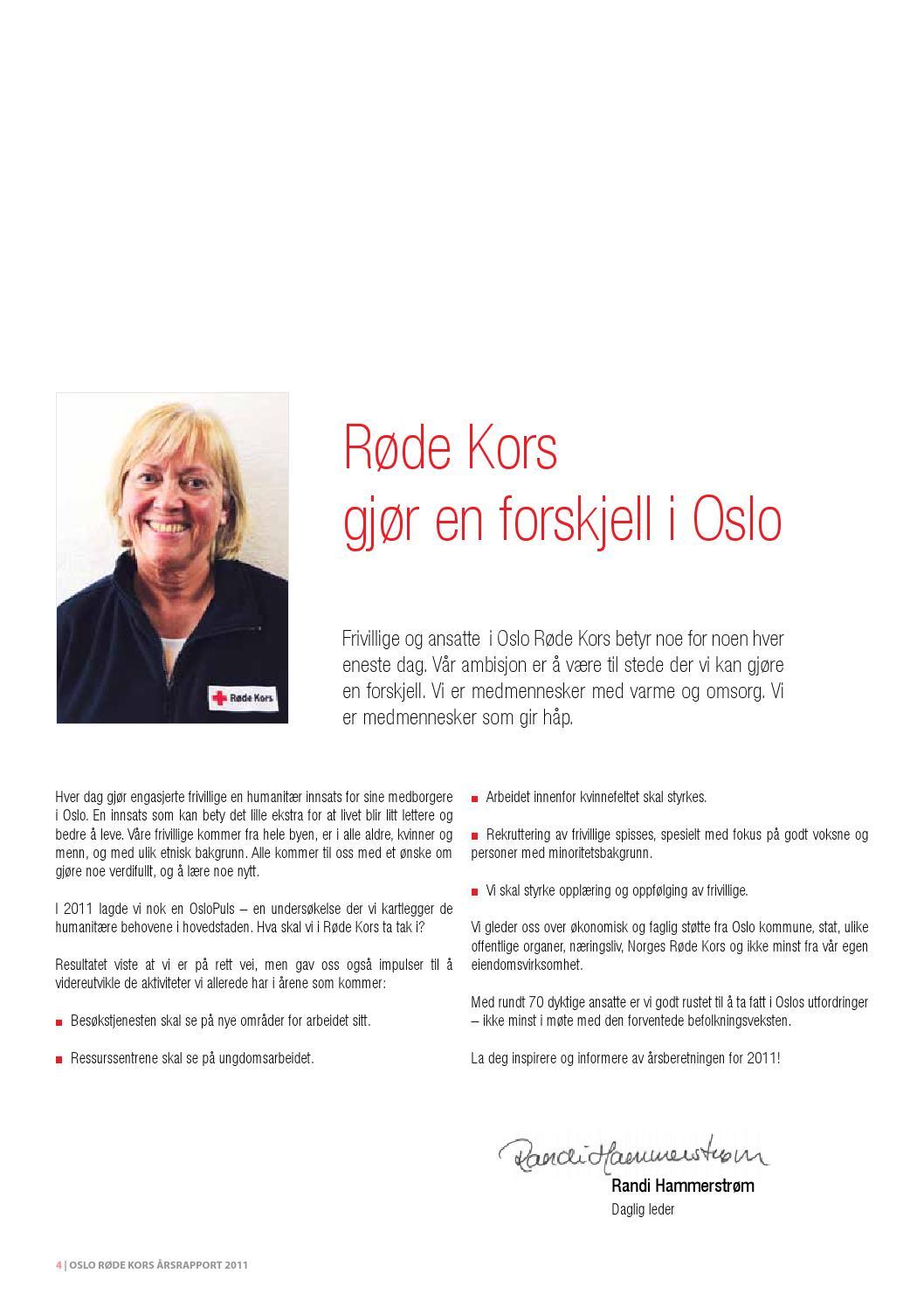 71705df9 2011 årsrapport Oslo Røde Kors by Oslo Røde Kors - issuu