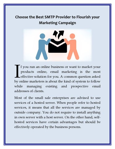 Choose the best smtp provider to flourish your marketing