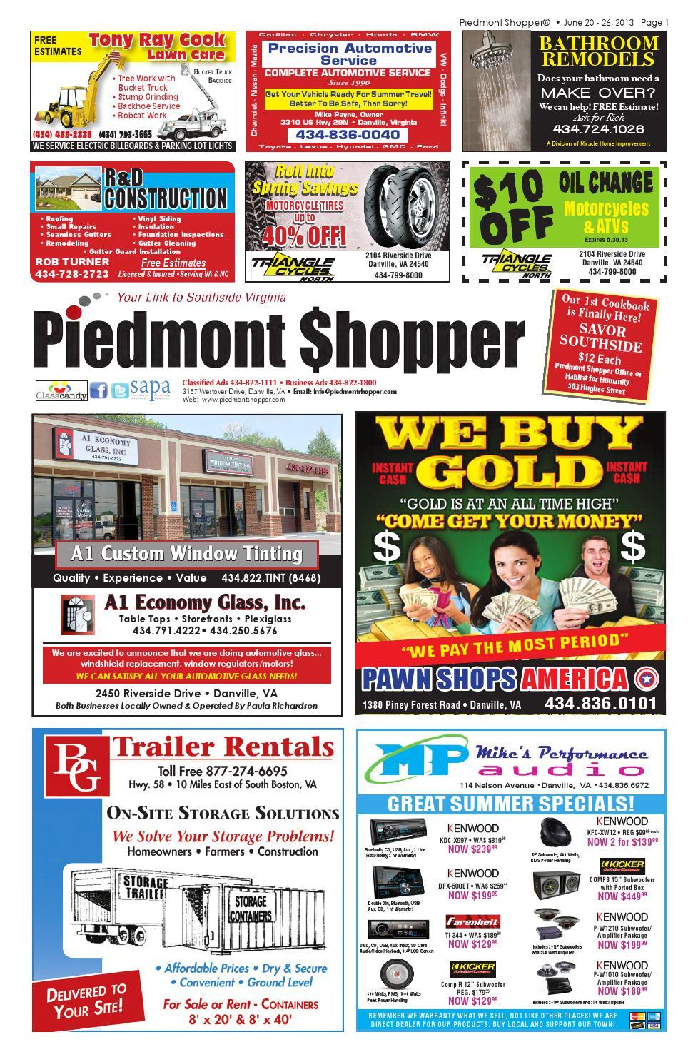 Piedmont Shopper 6 20 13 by piedmont shopper - issuu