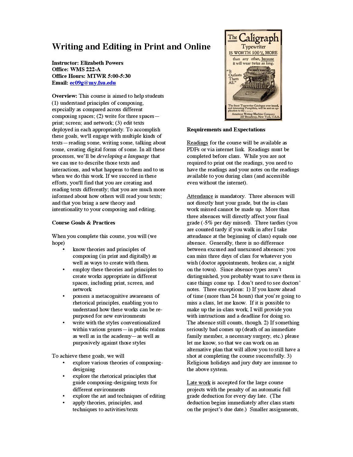 Wepo syllabus by Elizabeth Powers - issuu