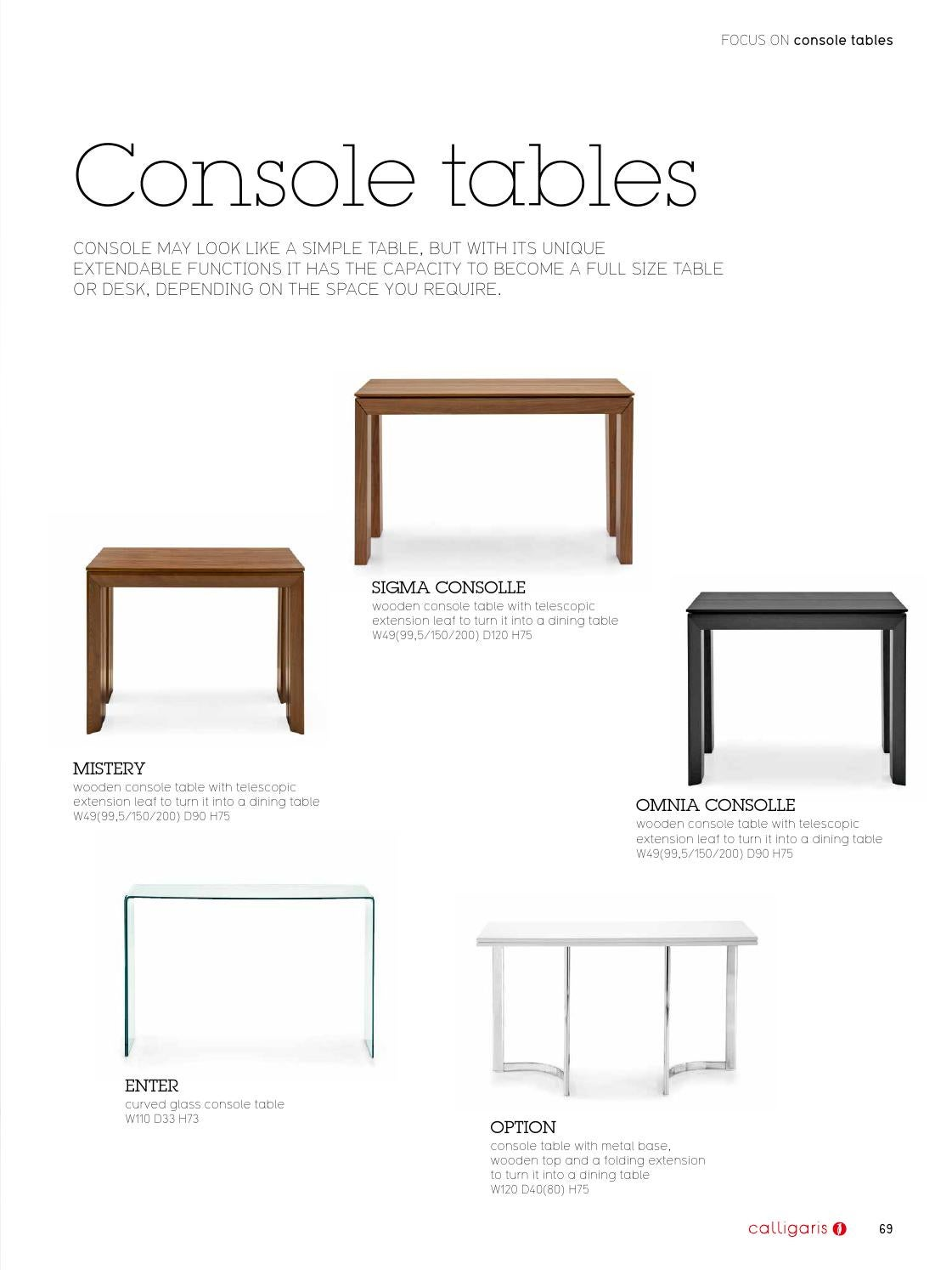 Consolle Option Calligaris.Calligaris Myhome By Scossa Issuu