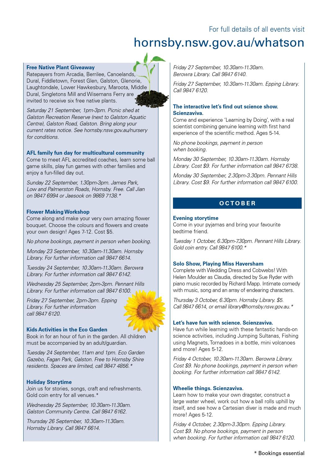 Free Talk Thursday September 22nd Lets >> Hornsby Shire Council Annual Community Report 2012 2013 By Hornsby