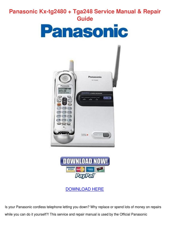 Panasonic Kx Tg2480 Tga248 Service Manual Rep By