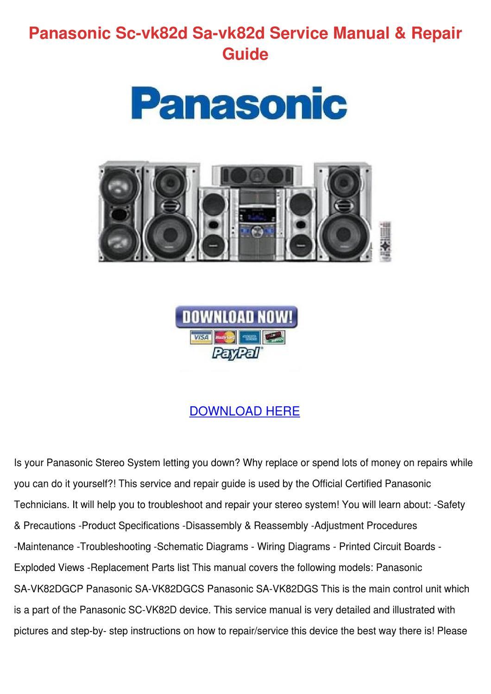 Panasonic Sc Vk82d Sa Vk82d Service Manual Re by StewartOsborne - issuu