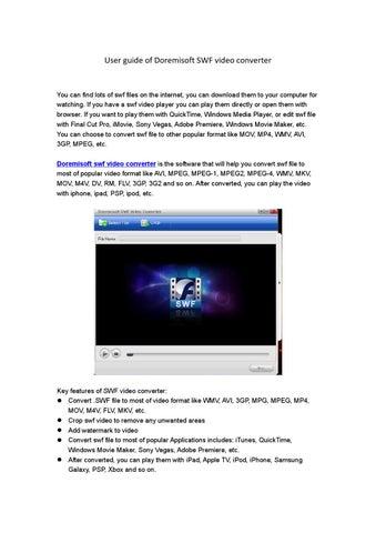 Doremisoft SWF Video Converter User Guide-How to convert swf
