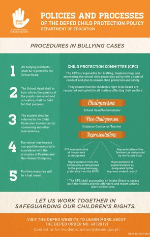 DepEd Child Protection Policy Infographics by DepEd ...
