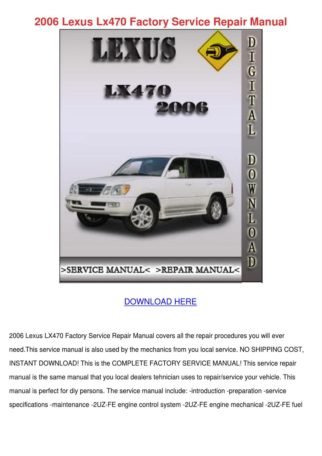 repair manual 2006 lexus sc lexus ls430 2001 2006 repair. Black Bedroom Furniture Sets. Home Design Ideas