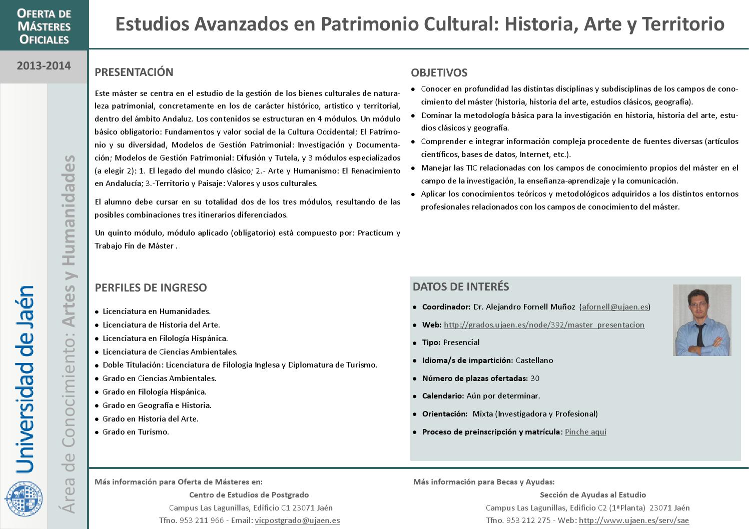 Calendario Ujaen.Revista Masteres Oficiales 2013 14 Universidad De Jaen By Cepuja