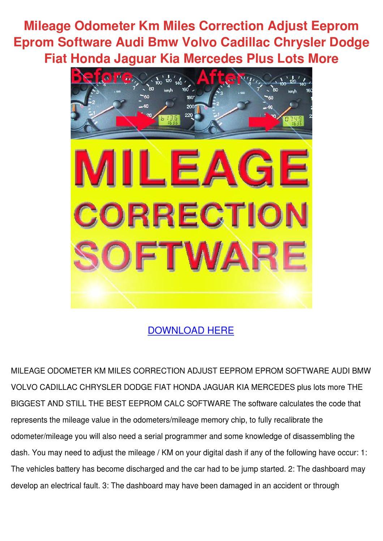 Mileage Odometer Km Miles Correction Adjust E by TrinaStark - issuu