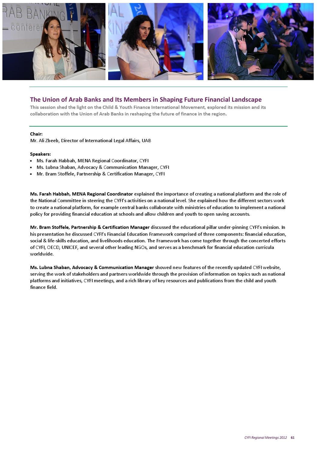 Child & Youth Finance International Regional Meetings Report