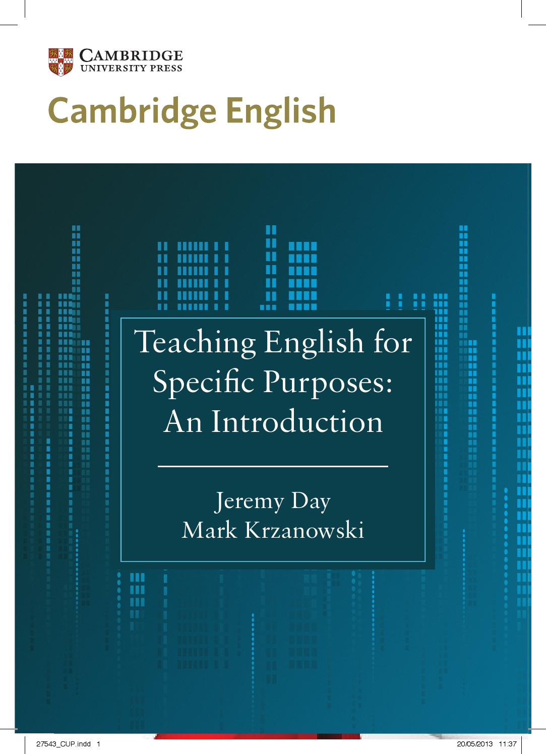 teaching esp an introduction by jeremy day and march krzanowski by
