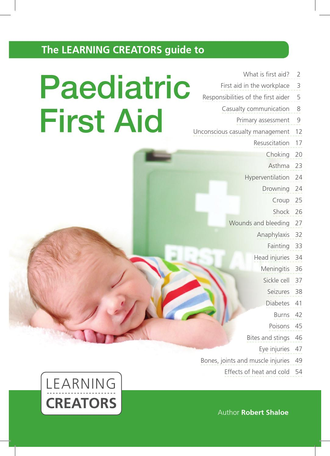 the role of a paediatric first aider Roles & responsibilities first aid introduction we have developed a consistent safety management system delivered by a team of health & safety managers.