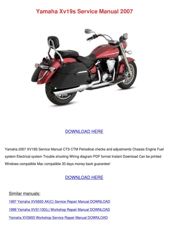 Yamaha Xv19s Service Manual 2007 By Charleneblythe