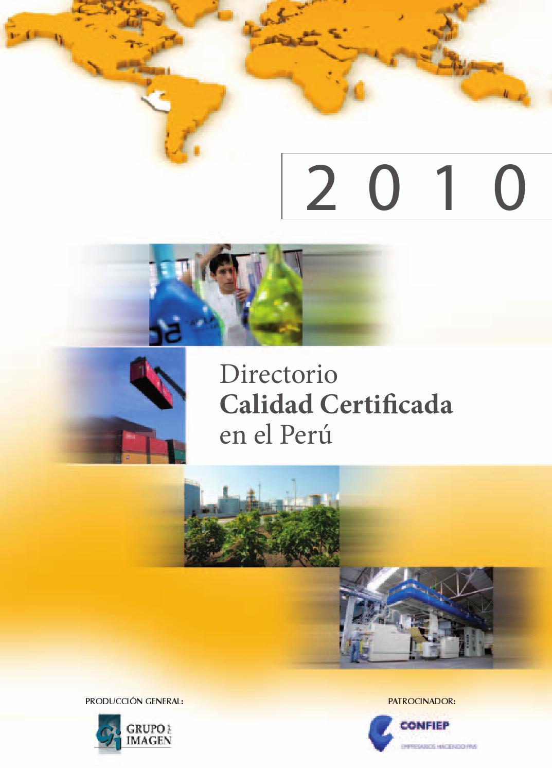 Directorio Calidad Certificada En El Per 2010 By Grupo