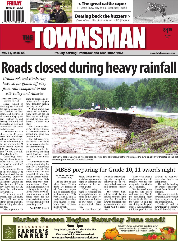 Cranbrook Daily Townsman, June 21, 2013 by Black Press - issuu