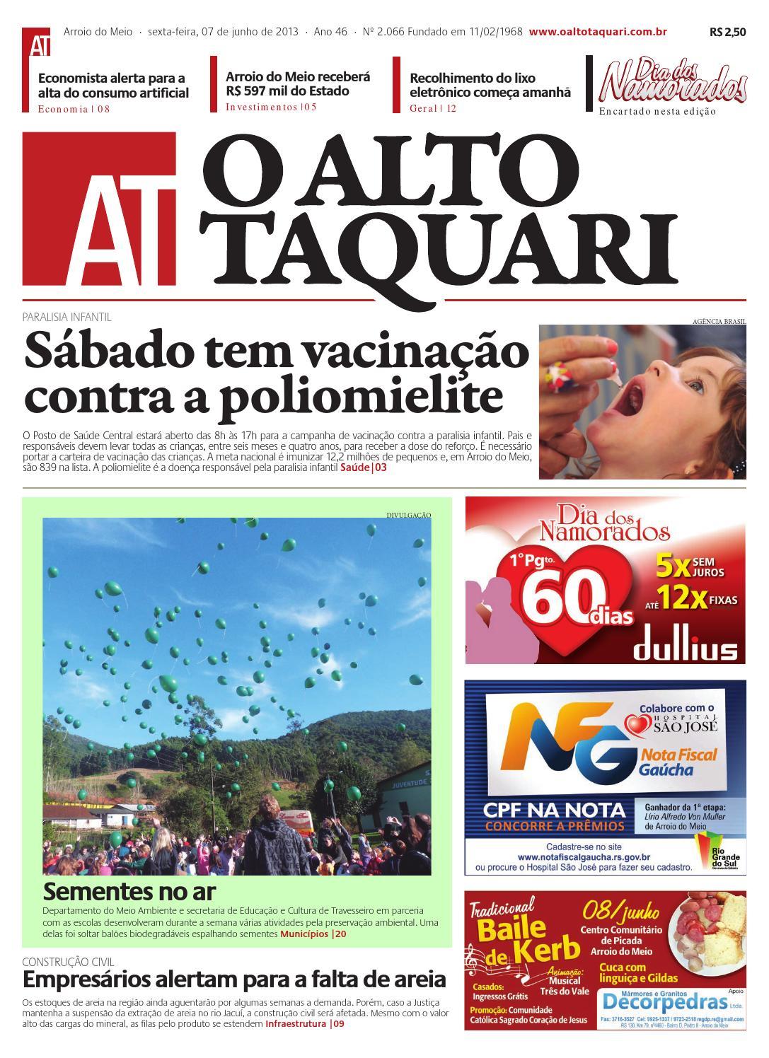 4534a1c15 Jornal O Alto Taquari - 07 de junho de 2013 by Jornal O Alto Taquari - issuu