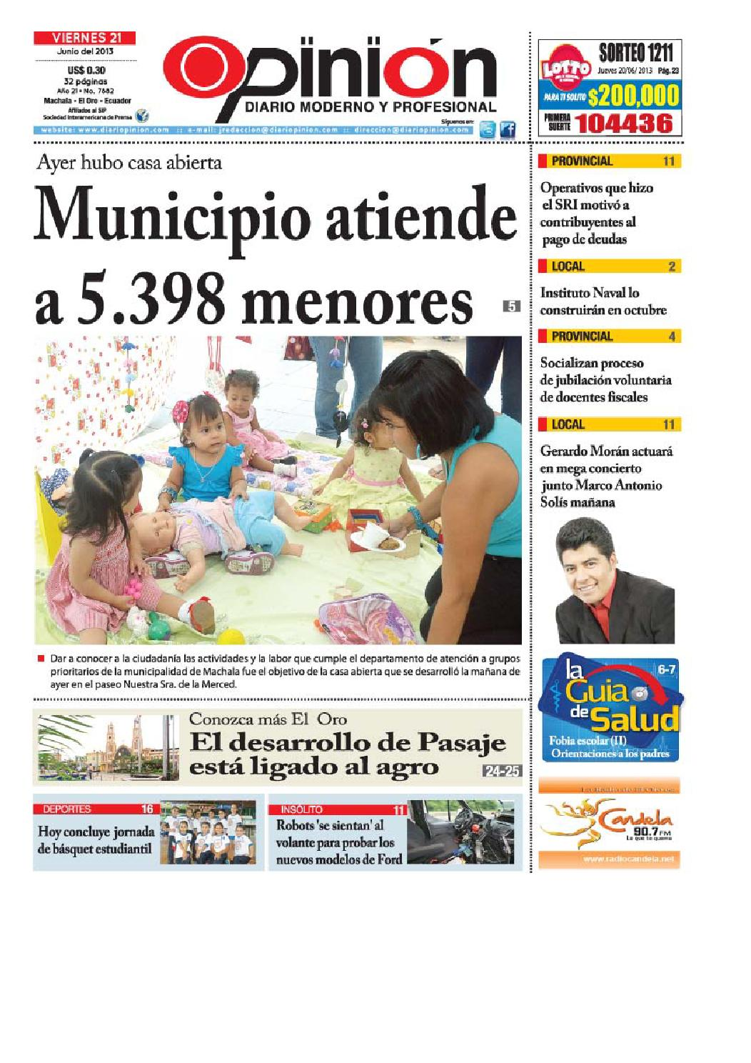Impreso 21 06 13 by Diario Opinion - issuu 66be7fc37778