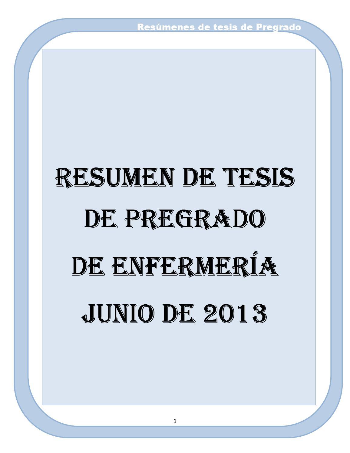 Resumenes de tesis de enfermeria 2005 2010 by john unheval - issuu