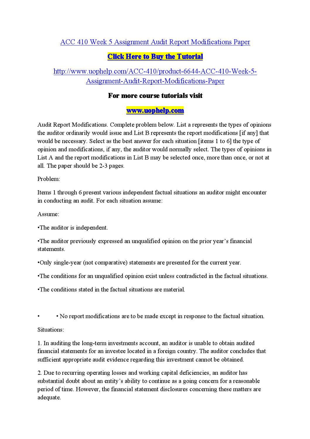 Acc 410 homework