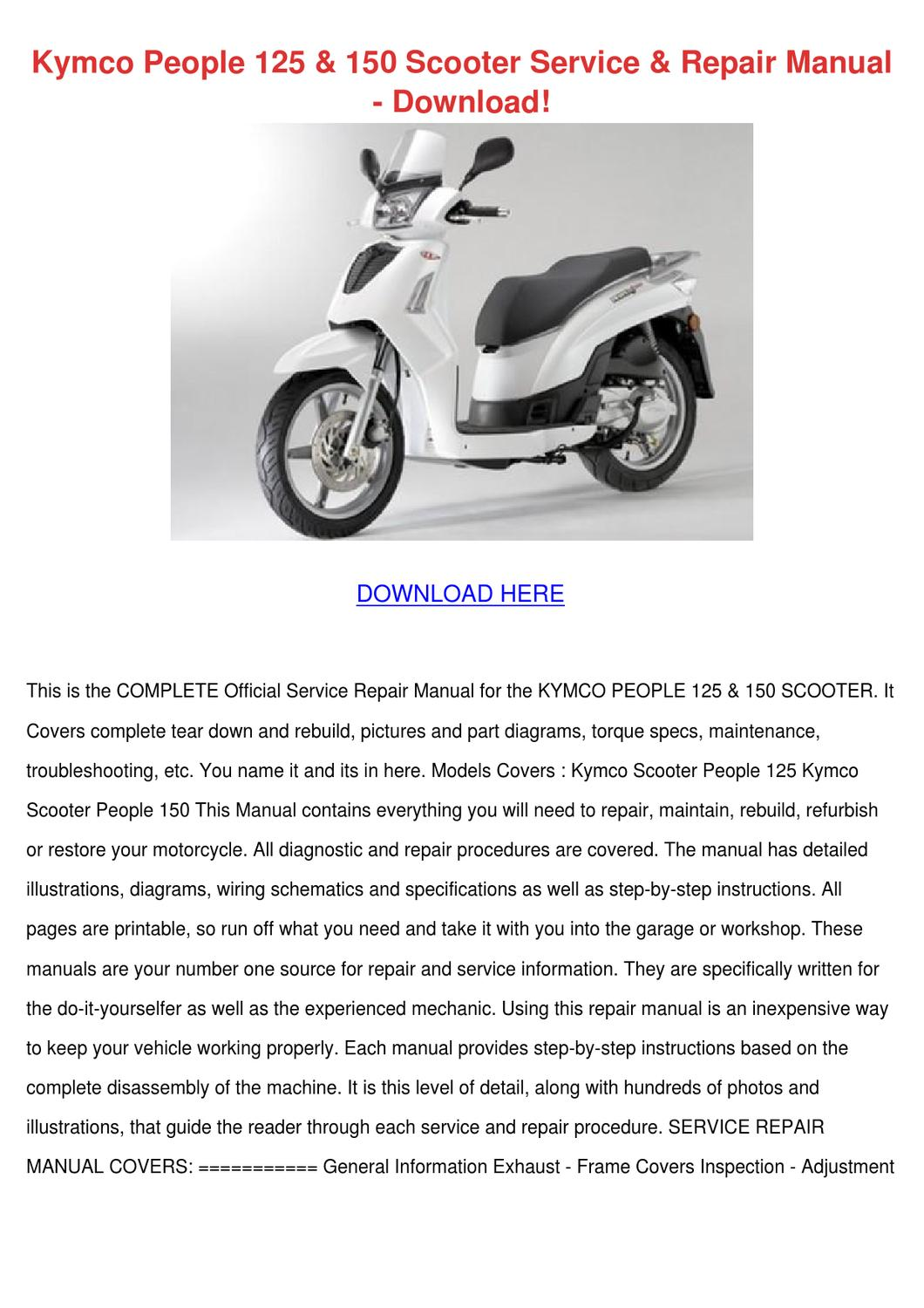 ... manual download Array - kymco people 125 150 scooter service repair m  by agnesvaldez issuu rh issuu ...