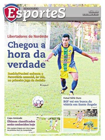 22 06 2013 - Caderno Esportes - Jornal Semanário - Edição 2936 by ... 3166d536ad068