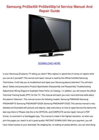samsung pn50a450 pn50a450p1d service manual a by paulanoll issuu rh issuu com ATX Motherboard MicroATX Motherboard