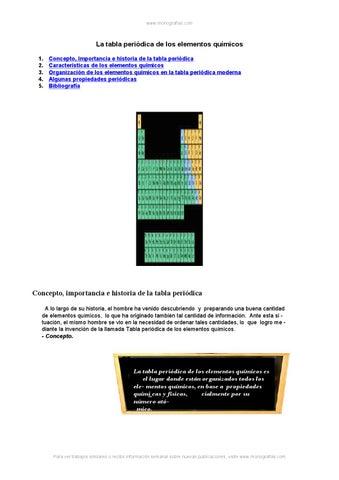Tabla periodica elementos quimicos by elibaru issuu page 1 monografias la tabla peridica de los elementos qumicos urtaz Choice Image