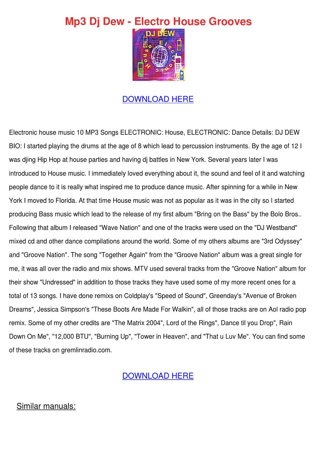 Mp3 Dj Dew Electro House Grooves by LorettaLangston - issuu