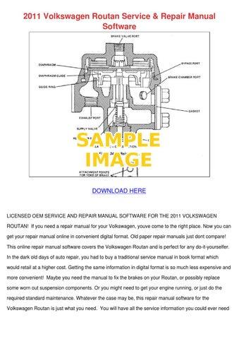 2010 vw routan service manual