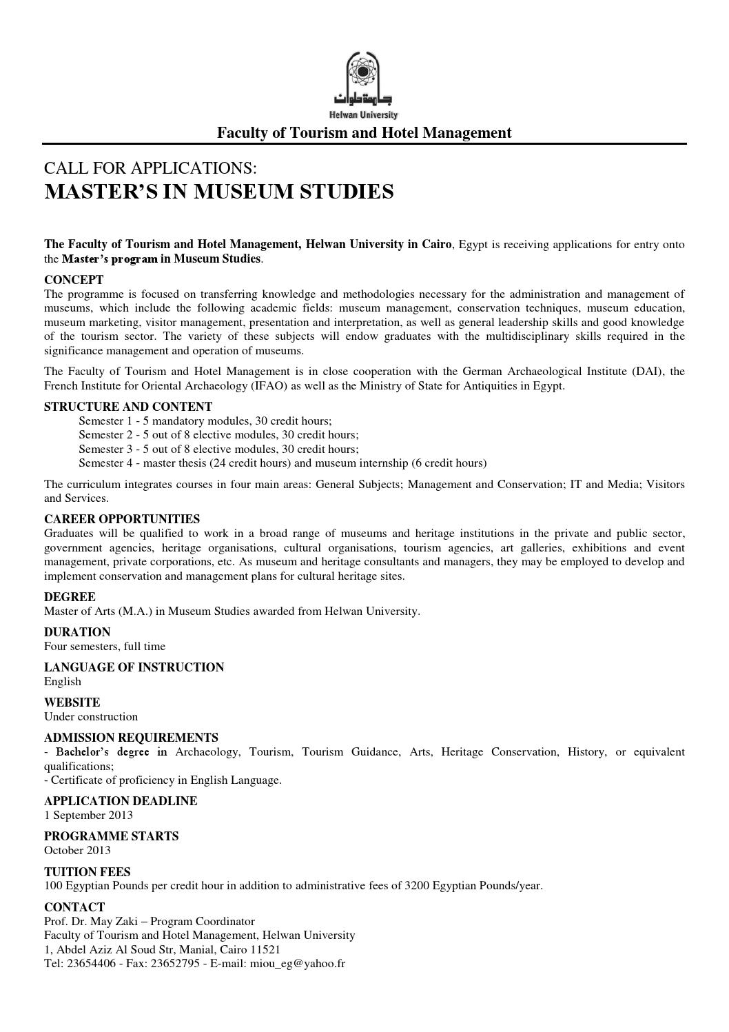 Call for applications masters in museum studies one page by fth hu call for applications masters in museum studies one page by fth hu issuu xflitez Gallery