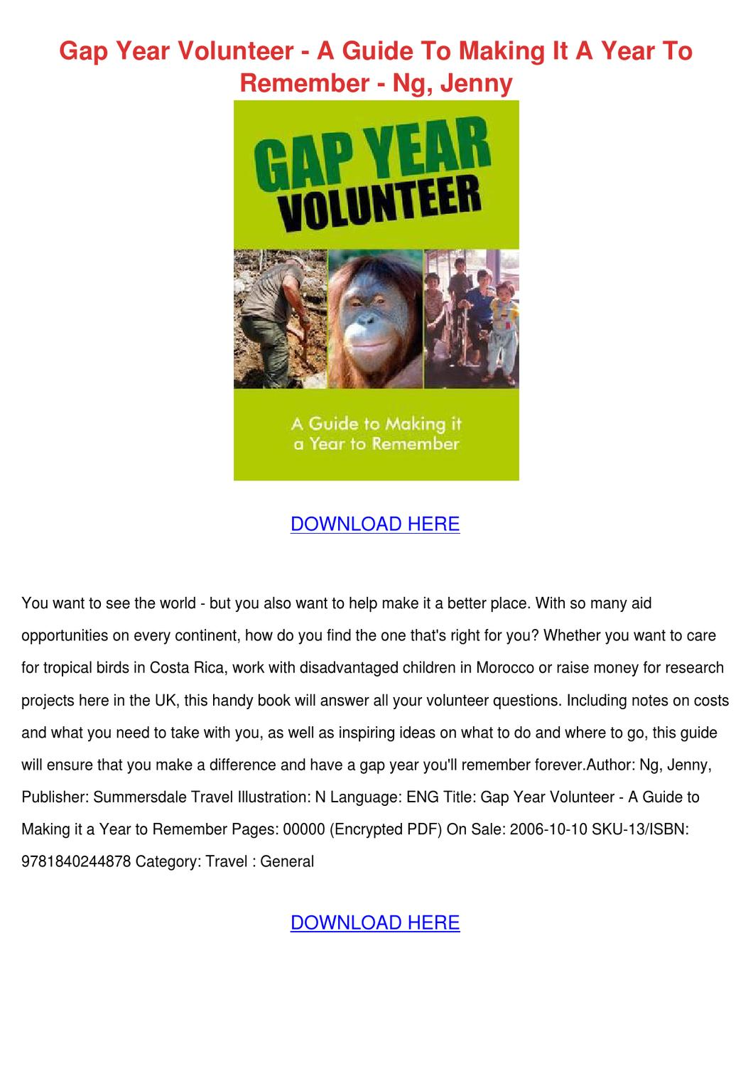 the complete guide to the gap year pdf