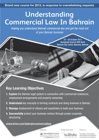 Understanding Commercial Law In Bahrain by Informa Middle