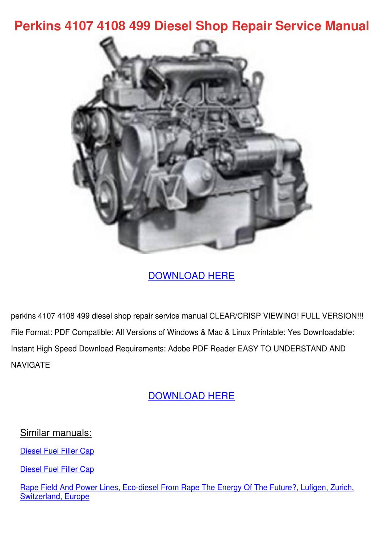 Perkins 4107 manual
