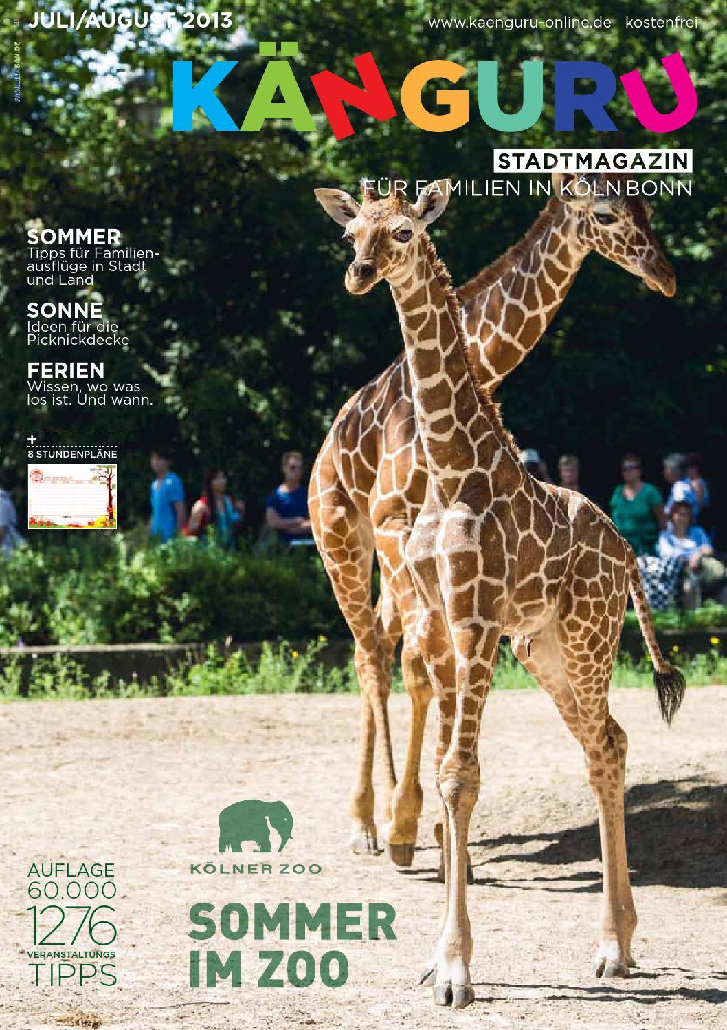 Känguru Stadtmagazin Für Familien In Köln Bonn Juliaugust