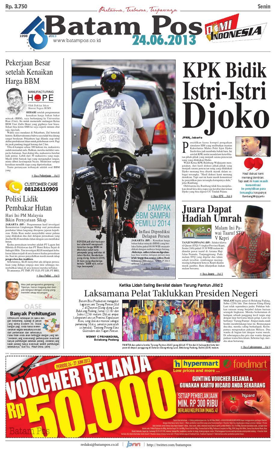 24 Juni 2013 By Batampos Newspaper Issuu Edie Pink Top Leux Studio Merah Muda M