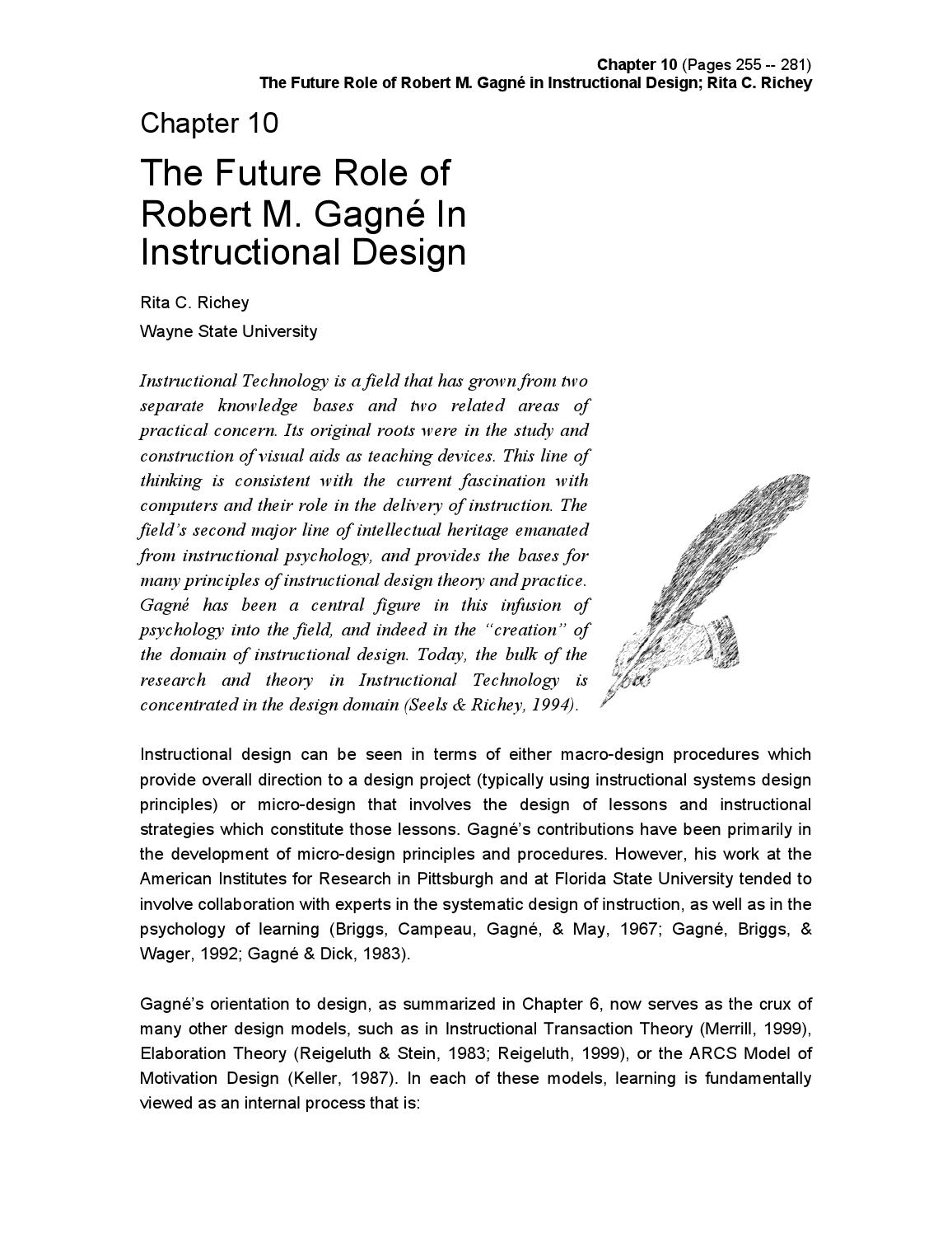 The Future Role Of Robert M Gagne In Instructional Design By Hazhusnin Husnin Issuu