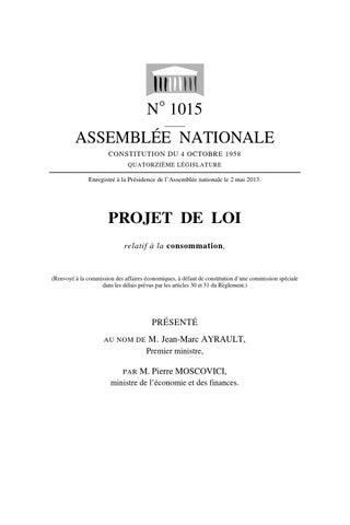 83d29b3a8326c4 Projet de loi hamon by Margot Ziegler - issuu