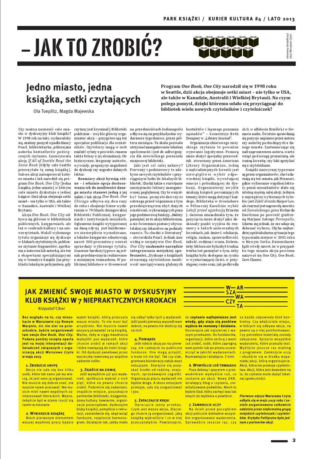 Kurier Kultura #4: Lato 2013 / Książki by Krytyka Polityczna