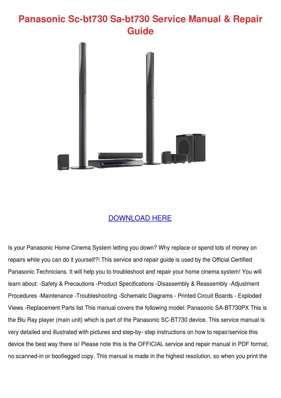 Panasonic Sc Bt730 Sa Bt730 Service Manual Re by LeslieKim - issuu