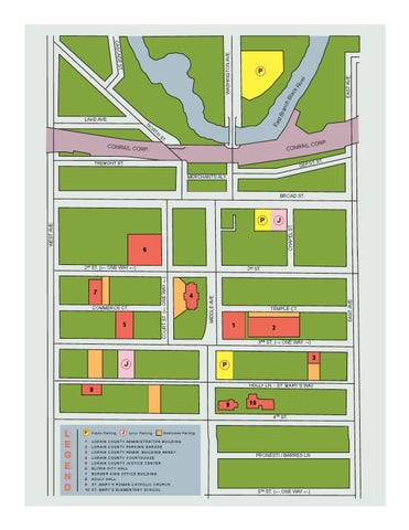 Parking Map of Downtown Elyria Ohio by Lorain County Ohio