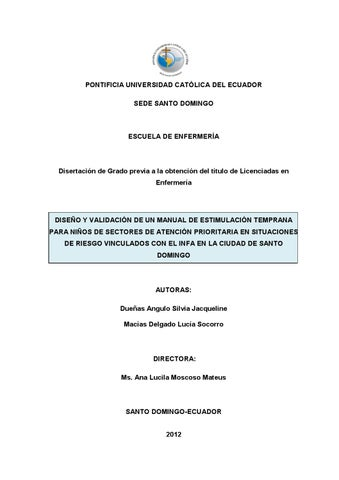 Manual de estimulación temprana para niños vinculados con el INFA en ... c73295c7285