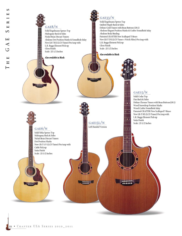 Crafter katalog akustičnih kitar by Music Max - issuu