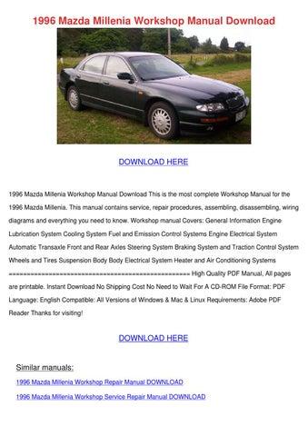 1996 Mazda Millenia Workshop Manual Download by RustyReeve - issuu