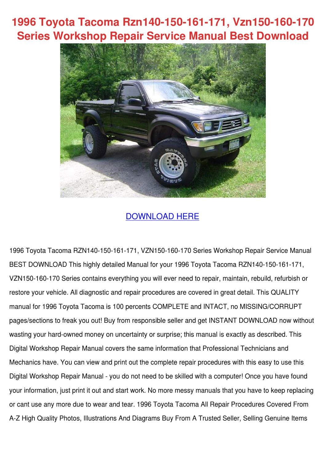 1996 Toyota Tacoma Rzn140 150 161 171 Vzn150 by RustyReeve - issuu