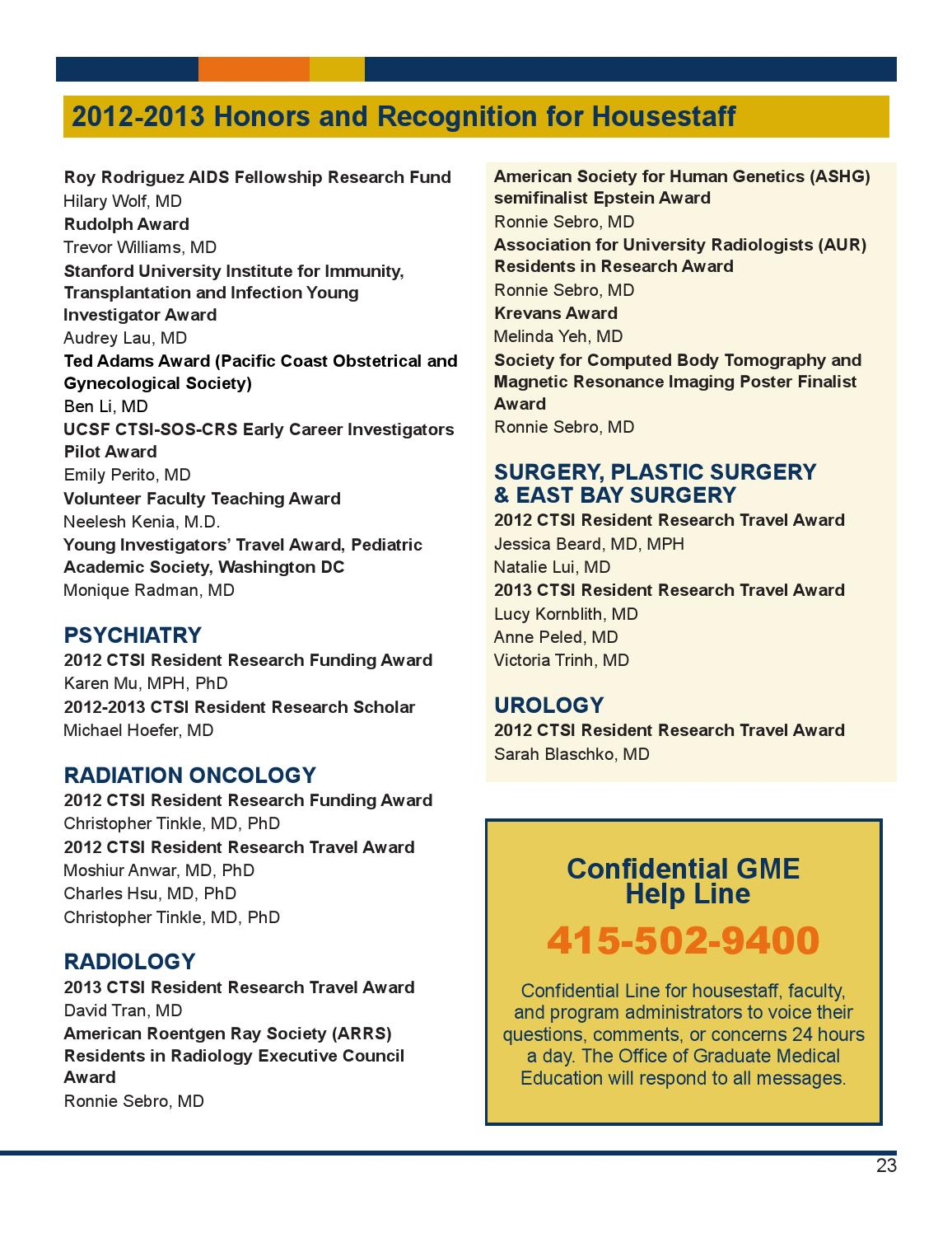 Residents Report - Summer 2013 by GME UCSF - issuu