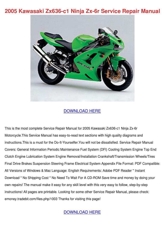 Kawasaki ZX-6 R Ninja 1995 Reparaturanleitung Reparatur-Handbuch Reparaturbuch