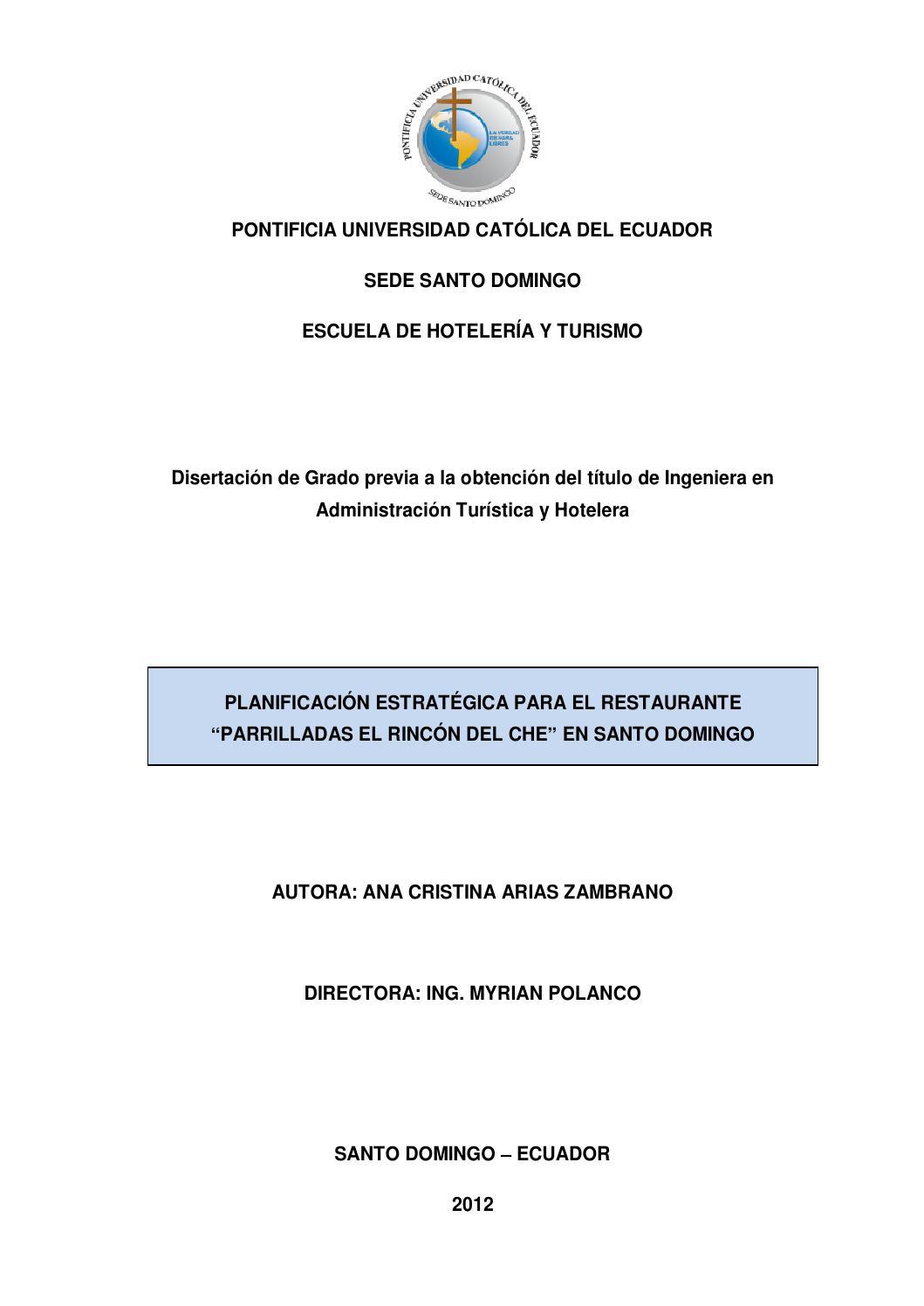 Planificación estratégica para el Restaurante \