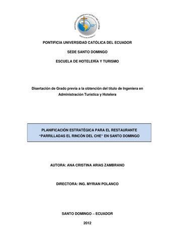 0dd58812dd278 PONTIFICIA UNIVERSIDAD CATÓLICA DEL ECUADOR SEDE SANTO DOMINGO ESCUELA DE  HOTELERÍA Y TURISMO