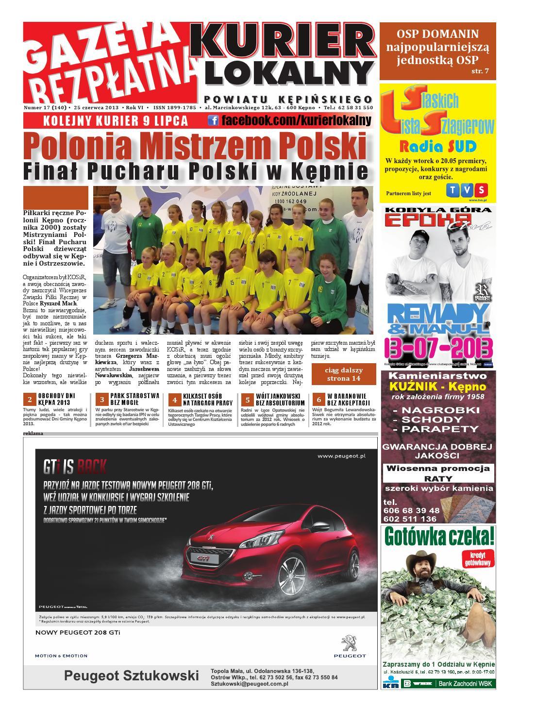 Gazeta Bezplatna Kurier Lokalny Kepno 140 By Michal Zaczyk Issuu