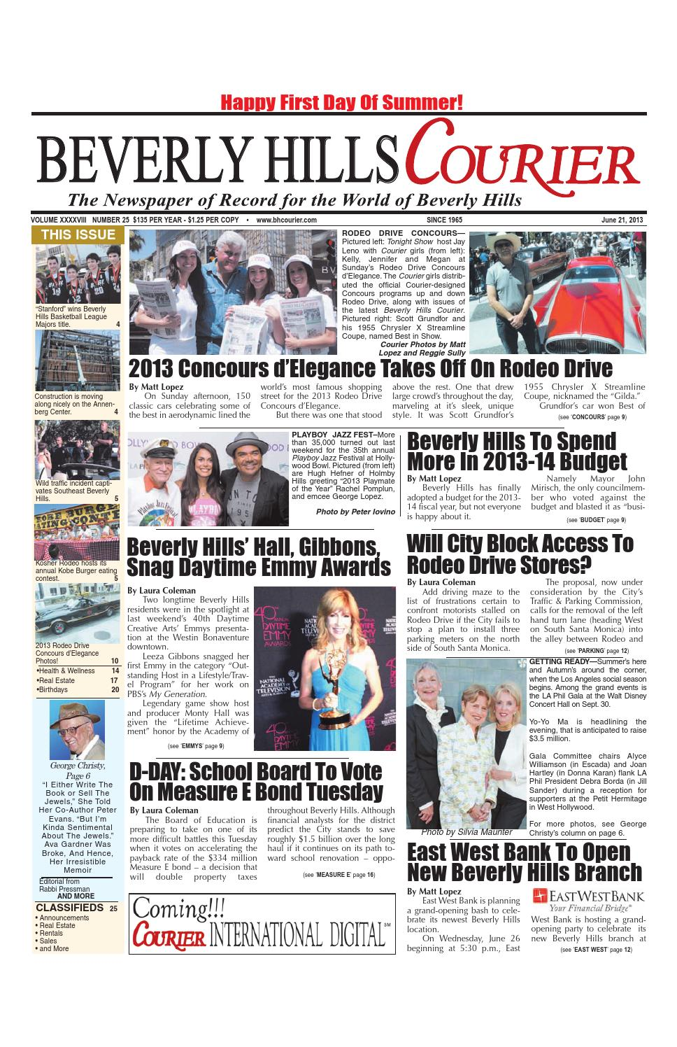 Beverly Hills Courier June 21, 2013 E-edition by The Beverly